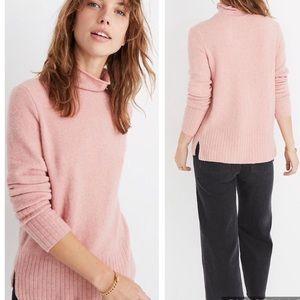 Madewell inland sweater in coziest yarn pink